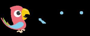 Qridin logo, jossa papukaijan kuva.